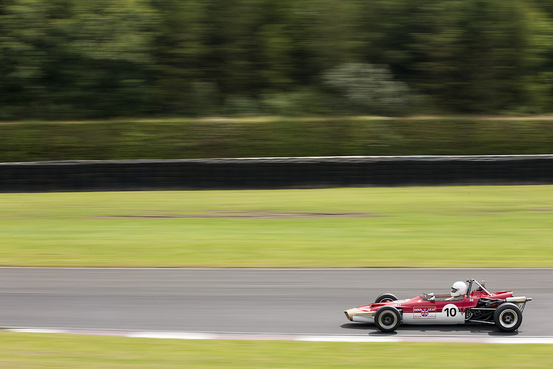 A Lotus 59 racing at Croft