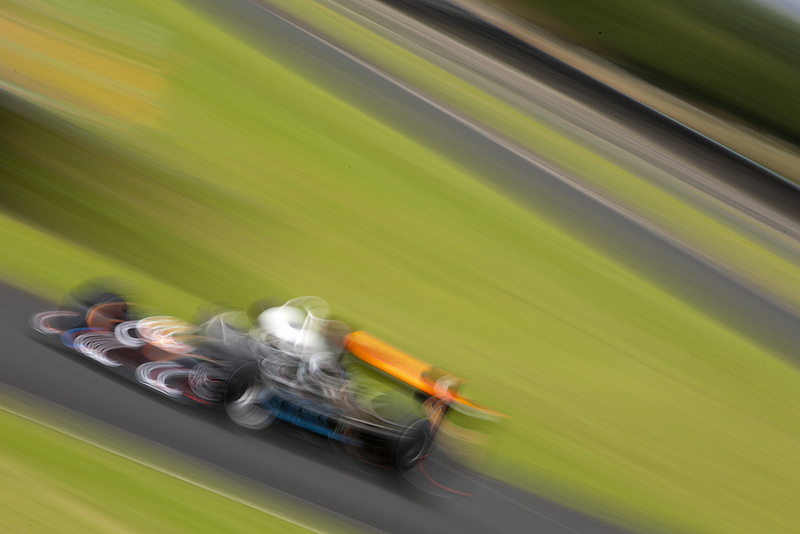 A March racing car at Croft, photographed with a lot of blur
