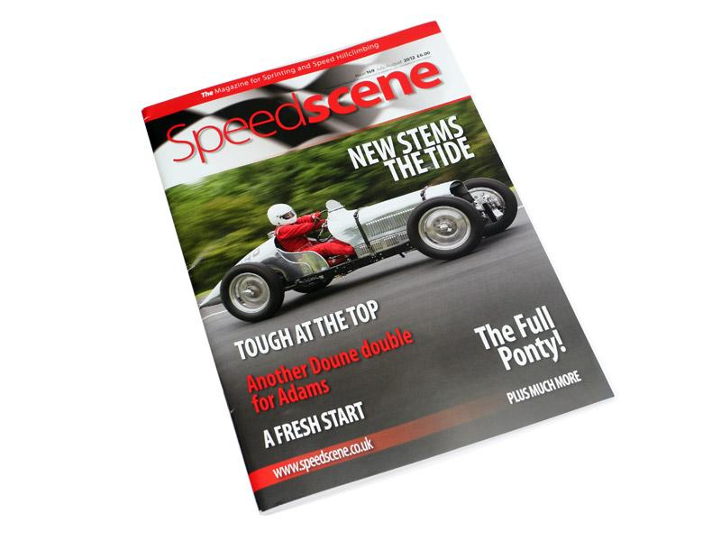 The Speedscene magazine cover for July/August 2012