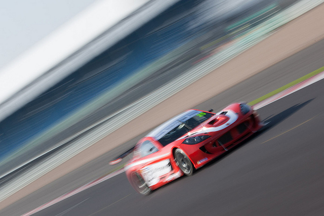 Ginetta G55 action shot at Silverstone - motorsport photography