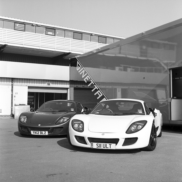 Ginetta G60s at Silversone from the Mamiya C330F - motorsport photography