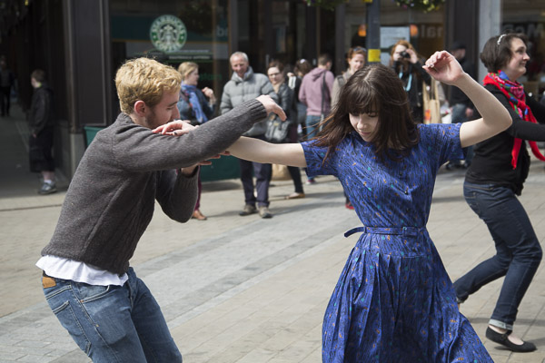 Swing dancers performing in Leeds