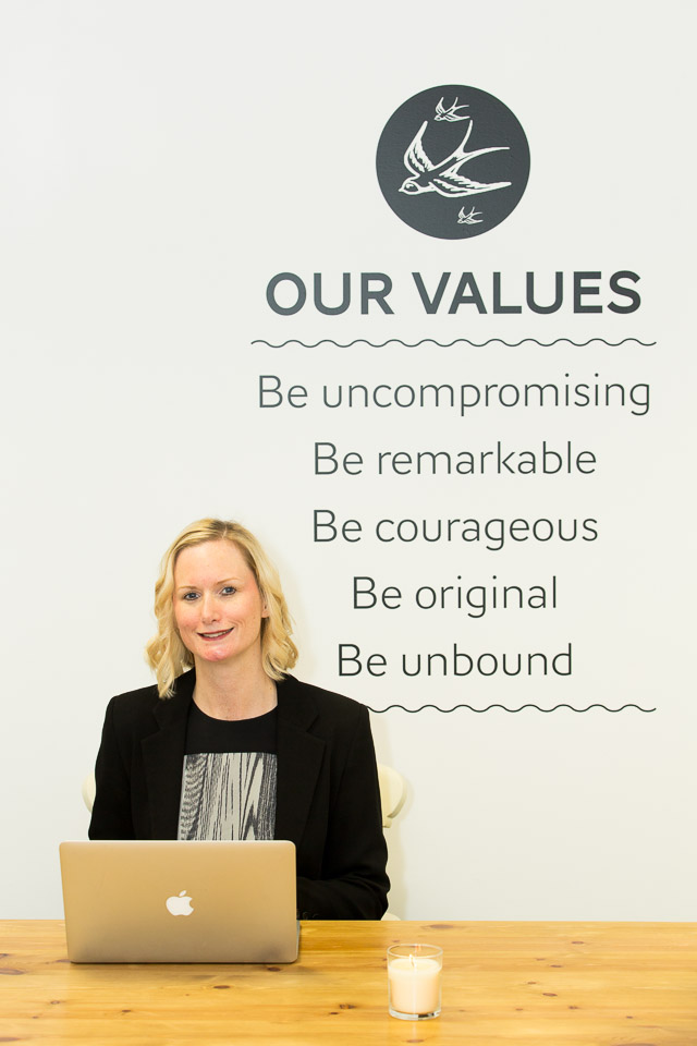 Claire of Indiacoco with values