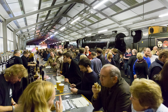 Crowds at the bar of the KWVR Beer & Music Festival