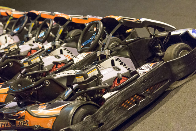 Lineup of Karts at PPiK Leeds