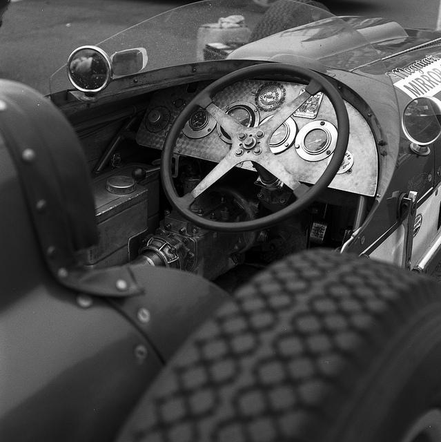 Vintage Indycar Cockpit