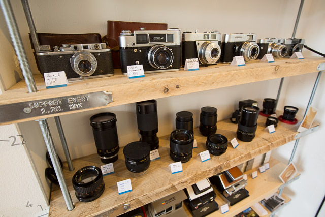 Cameras on the shelves in Leeds