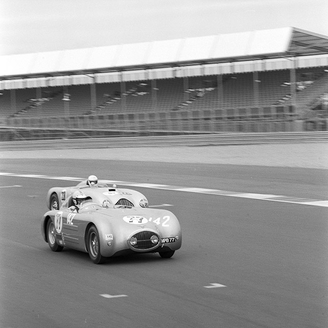 The Alta Jaguar of Charly Willems at Silverstone.