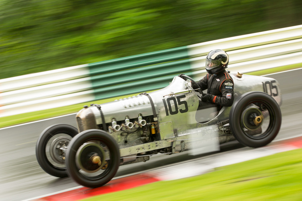 James Baxter racing through the Hall Bends at Cadwell Park.