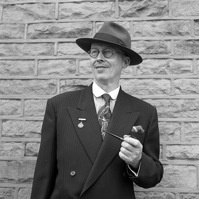 A sharp suited gent at Batley Vintage Day.