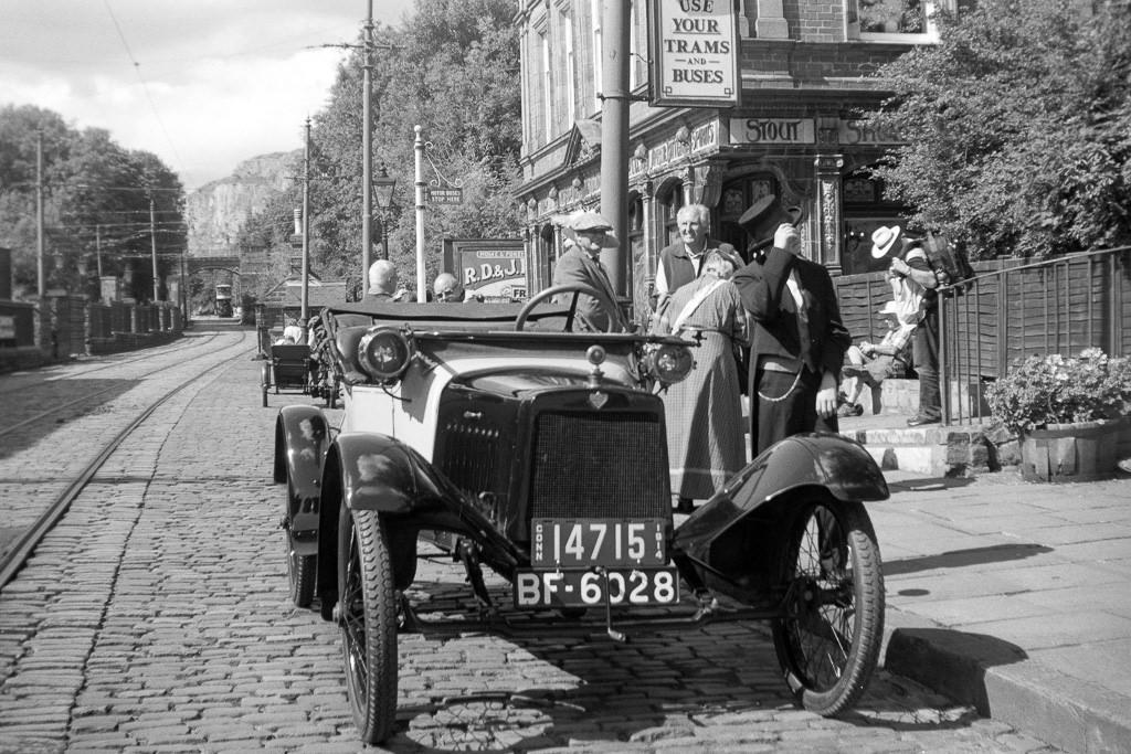 A Saxon car at Crich Tramway taken on a Kodak Brownie No 2