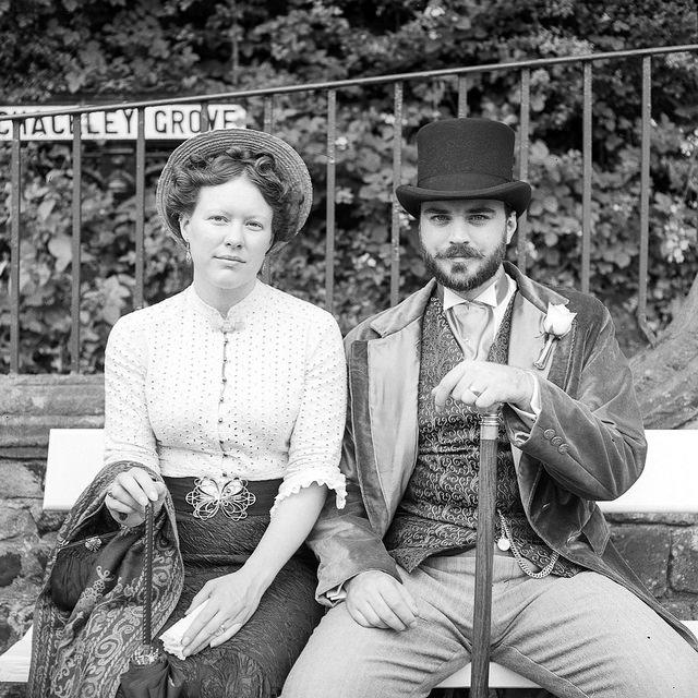 Edwardian couple at Crich Tramway
