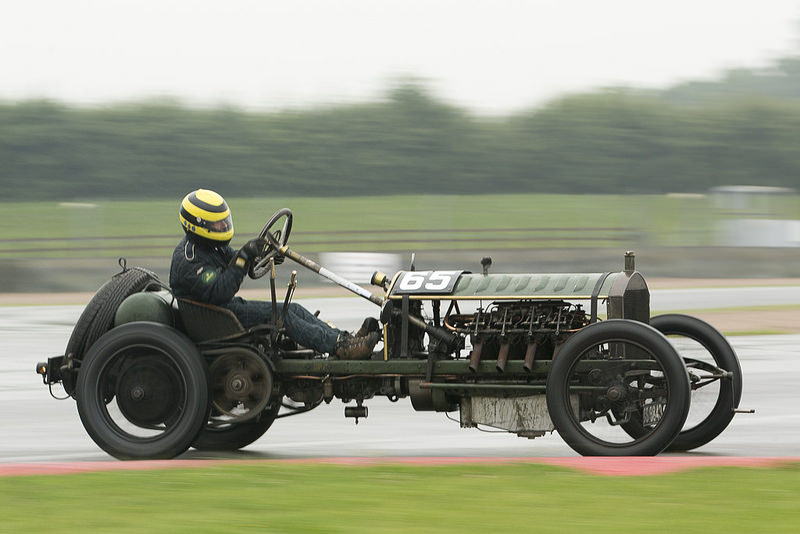 Duncan Pittaway in the Edwardian Monarch  at Donington Park