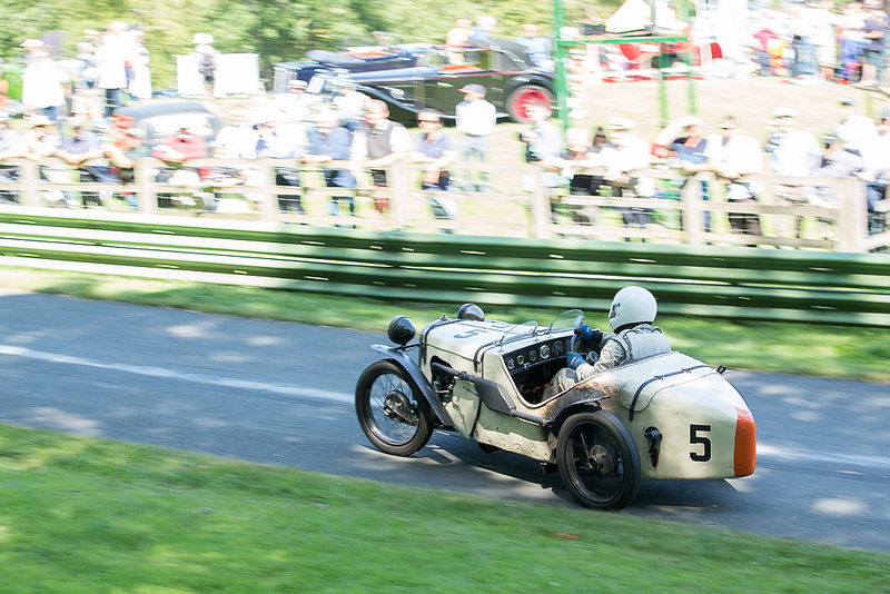 William May gets sideways at Prescott in the Austin 7.