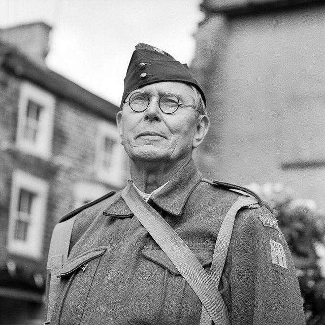 A home guard soldier at the Pateley Bridge 1940s event - Fine Art Photography Pateley Bridge