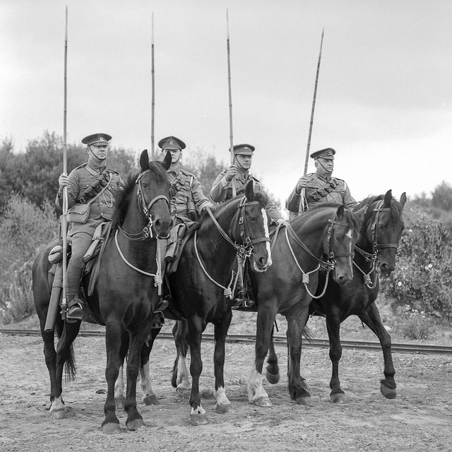 Four horsemen at the Tracks to the Trenches event at Apedale Valley Light Railway - WW1 Photography